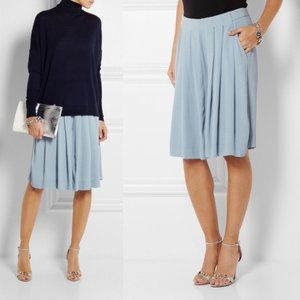 See by Chloe Pleated Crepe Mint Culotte Pants 6